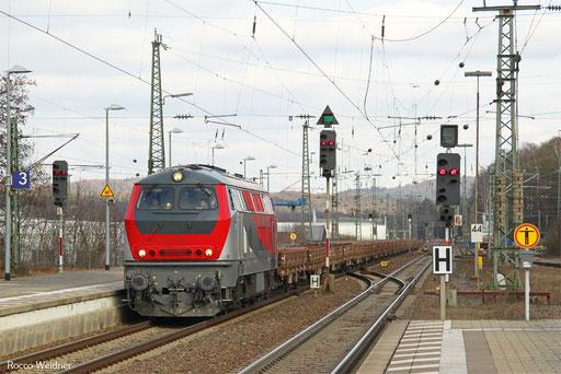 218 256 mit DGV 92813 Wörth (Rhein) - Homburg(Saar) Hbf (Sdl.), Kaiserslautern 06.02.2017