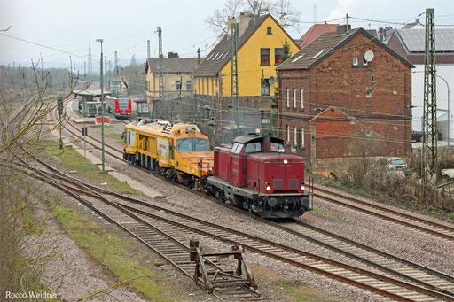 213 335 mit DGV 92469 Stadthagen - Luisenthal(Saar) (Sdl.), Bous 24.03.2016