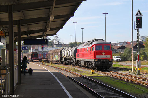 232 259 mit EZ 46132 (Basel SBB Rb) Zürich-Limmattal (RBL) - Mannheim Rbf Gr.M (Sdl. Frachten, Rastatt Umleiter), Friedrichhafen Stadt 22.09.2017