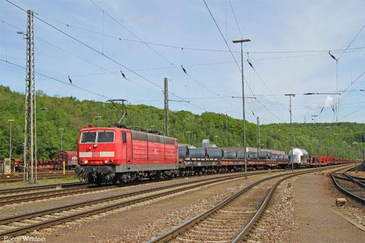 181 204 mit GM 62552 Oberhausen West Orm - Forbach/F (Revigny) (Sdl. Warmband), Saarbrücken 15.05.2017