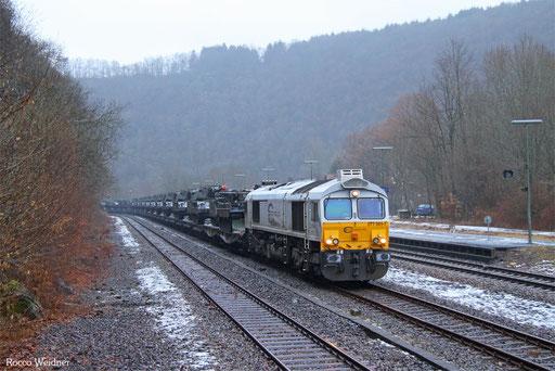 77 001 mit M 62578 Trauen - Baumholder (Sdl. Militär), Heimbach(Nahe) 30.01.2017