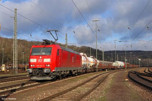 185 022 mit EZ 44218 Mannheim Rbf Gr.K - Woippy/F, Saarbrücken Rbf 21.01.2018