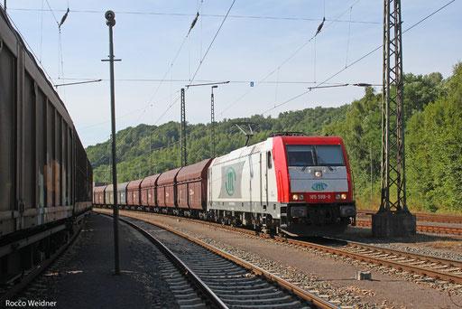 185 589 mit DGS 83762 Forbach/F - Passau Grenze (Sdl.), Saarbrücken Rbf Nord 22.08.2013