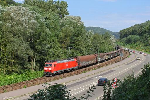 185 029 mit EZ 50904 Mannheim Rbf Gr.G - Saarbrücken Rbf Nord (Sdl.Frachten), Scheidt(Saar) 06.09.2013