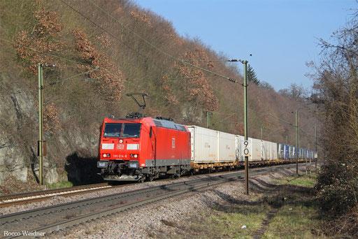 185 014 mit GA 52971 Saarbrücken Rbf Nord - Berlin-Lichterfelde West, Völklingen 15.02.2017