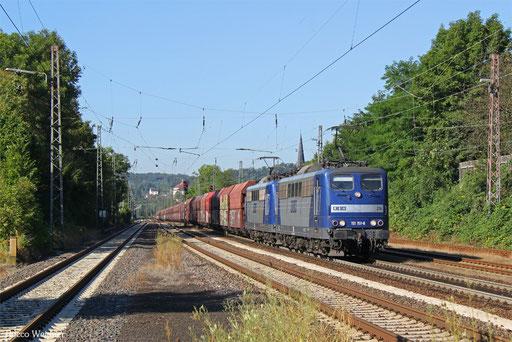 DT 151 151 + 151 127 mit GM 48745 Maasvlakte/NL - Neunkirchen(Saar) Hbf, Dudweiler 26.08.2016