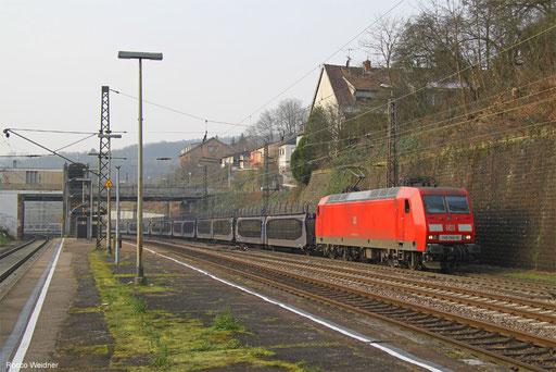 145 043 mit GA 46367 Vaires-Torcy/FR - Kittsee/A (Trnava/SK), Saarbrücken 08.01.2018