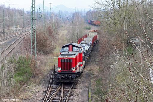 212 024 (Heinrichsmeyer Eisenbahndienstleistungen UG, Hochwaldbahn Gruppe), Bous 16.02.2013