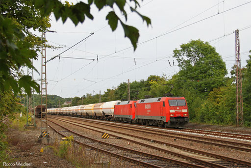 DT 152 101 + 152 145 mit GC 47180 (Presevo/SRB) Passau Gbf - Saarbrücken Rbf Nord (Saaralbe/F) (Sdl.Kohlenwasserstoff), Sulzbach(Saar) 01.09.2013