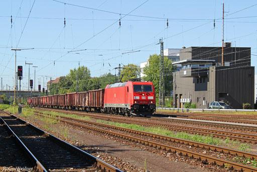 185 370 mit GM 41588 Karlsruhe Hafen - Châtelet/B (Sdl. Abfälle aus Eisen), Karlsruhe West 25.08.2016