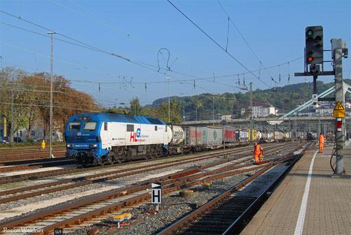 251 006 mit DGS 40973 Ludwigshafen (Rhein) BASF Ubf - Basel SBB RB Gr. A  (Sdl., Rastatt Umleiter), Ulm Hbf 21.09.2017)