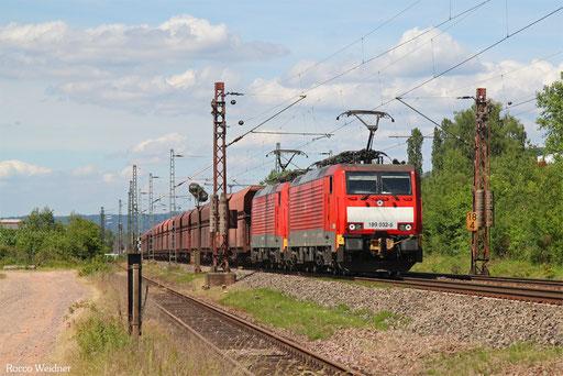 DT 189 032 + 189 033 mit GM 48716 Dillingen Hochofen Hütte - Maasvlakte Oost, Ensdorf(Saar) 31.05.2017