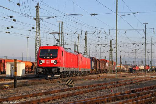 187 113 (185 012) mit EZ 51847 Mannheim Rbf Gr.E - Gremberg Bs, 16.02.2017