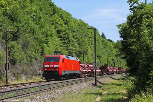 152 092 mit GM 62563 Mülheim-Styrum - Dillingen Hochofen Hütte (Sdl.), Völklingen 31.05.2017