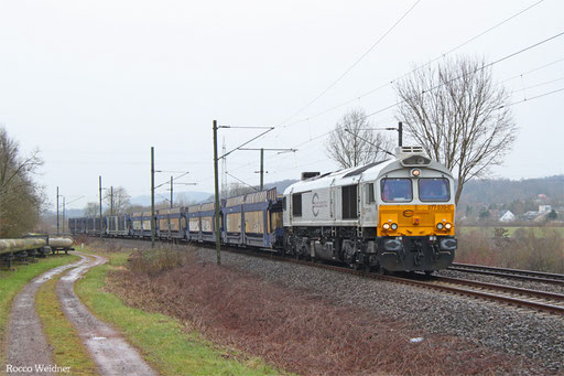77 030 mit EK 55981 Fürstenhausen - Saarbrücken Rbf Nord, Gersweiler-0ttenhausen 04.03.2016