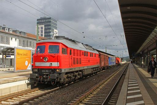 232 252 mit GC-Z 62909 Bruchsal - Einsiedlerhof (Sdl. NCS-Trafo), Kaiserslautern 17.09.2013