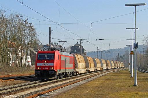 185 406 mit DGS 45192 Passau Grenze - Saarbrücken Rbf Nord (Sdl.), Dudweiler 18.03.2016