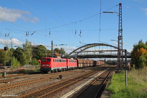 DT 140 837 + 140 805 mit GM 48776 Dillingen Zentralkokerei - Oberhausen West Orm, Dillingen(Saar)13.10.13 in