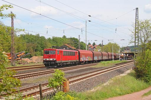 155 055 mit EZ 51914 Mannheim Rbf Gr.G - Saarbrücken Rbf Nord, Dudweiler 23.05.2017
