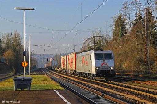 185 538 mit DGS 41565 Bettembourg-Marchandises - München-Laim Rbf, Dudweiler 26.01.2016