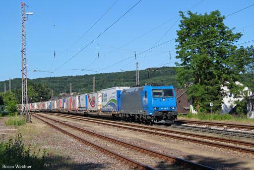185 528 mit DGS 41870 Trieste Campo Marzio/I - Wasserbillig/L (Bettmbourg-Marchandises), Sulzbach(Saar) 10.06.2017
