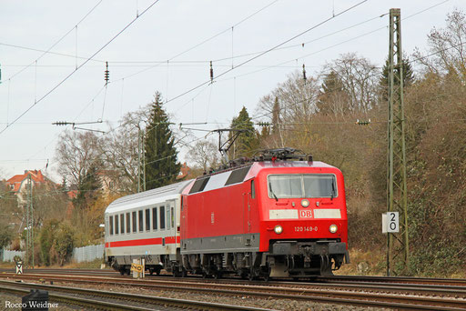 120 149 mit DPE 24186 Saarbrücken Hbf - Frankfurt/Main Hbf (Sdl.), 02.02.2017