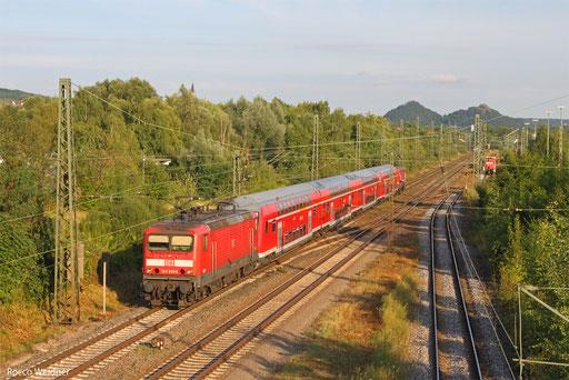 143 925 und 143 647 mit RE-D 12021 Saarbrücken Hbf - Koblenz Hbf, Bous 06.08.13