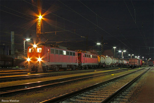 DT 140 850 + 140 843 mit EK 55997 Dillingen(Saar) - Saarbrücken Rbf Nord (Sdl. Frachten), 28.01.2016