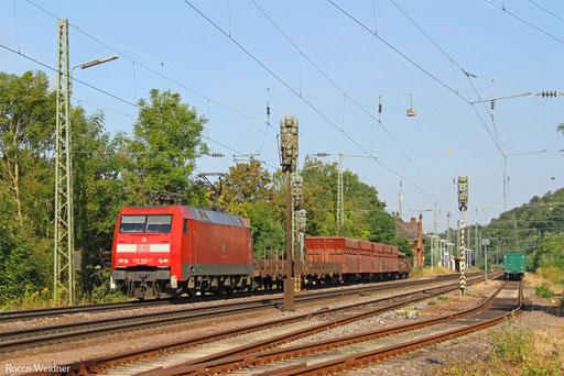 152 033 mit GM 98791 (Oberhausen West Orm) Ehrang Nord - Einsiedlerhof (Sdl. leere Werksgüterwagen, ex 62601), Luisenthal(Saar) 16.08.2016