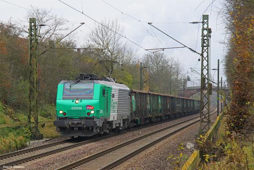 BB37019 mit DGS 44428 Dillingen Hochofen Hütte - Forbach/F (Woippy) (Sdl.), 20.11.2017