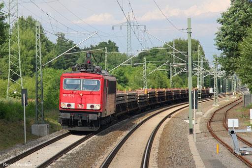 155 123 mit GB 62363 Hanau Nord - Saarbrücken Rbf Nord (Sdl. Betonschwellen), Einsiedlerhof 06.07.2017