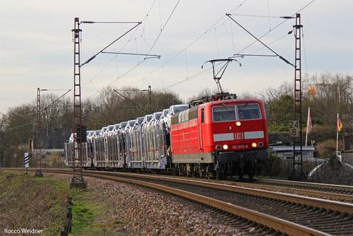181 205 mit GA 62371 Dillingen Ford - Dillingen(Saar) (Sdl.PKW, Drehfahrt), Saarlouis
