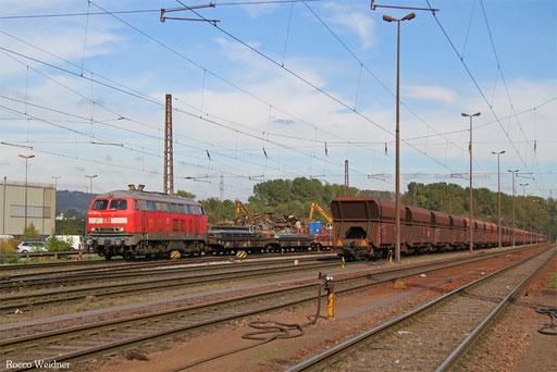 218 003 mit EK 55923 Dillingen Hochofen Hütte - Saarbrücken Rbf Nord, 13.10.2016