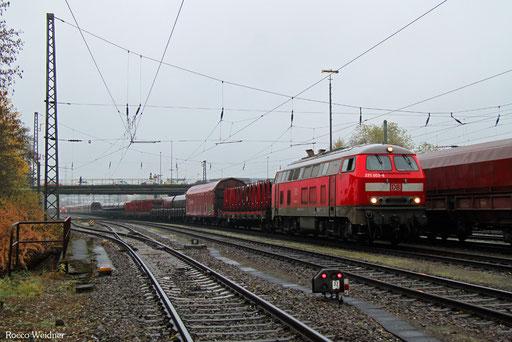 218 003 mit GA 98843 Neunkirchen(Saar) Hbf - Mannheim Rbf Gr.K (Sdl.PKW), 15.11.2016