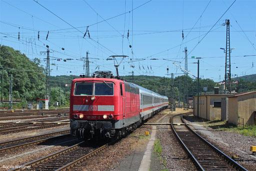 181 207 mit IC 2058 Stuttgart Hbf - Saarbrücken Hbf, 02.08.13