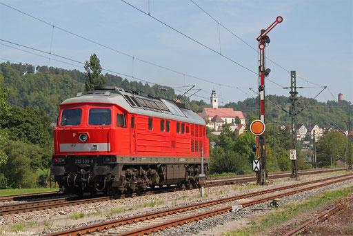 DB Cargo 232 609 als T 89875 Horb - Tübingen