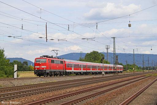 111 100 mit RB 15364 Heidelberg Hbf - Frankfurt(Main)Hbf, Mannheim 11.08.2016