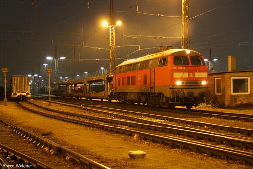 218 003 mit EK 55433 Dillingen(Saar) - Dillingen Ford, 13.12.2016