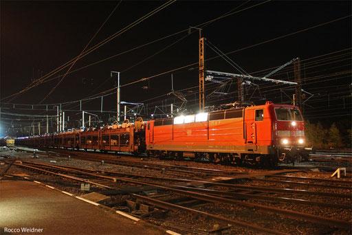 181 218 mit GB 98583 (Tychy/PL)  Köln-Kalk Nord Ksf - Forbach/F (Sdl.PKW)  23.09.2013