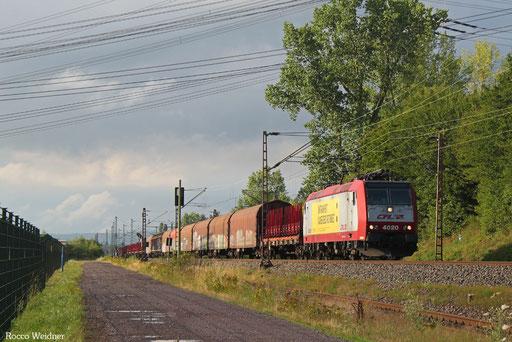 4020 mit DGS 49681 Bettembourg-Marchandises/L - Saarbrücken Rbf Nord (Sdl.), Ensdorf(Saar) 11.07.2017