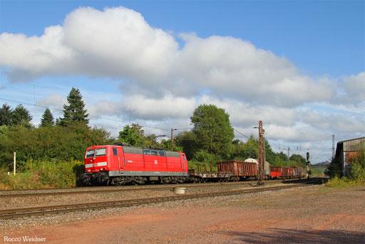 181 213 mit EK 55958 Saabrücken Rbf West - Dillingen(Saar), Ensdorf 20.08.2016