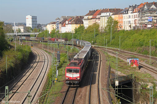 155 219 mit EZ 51424 Gremberg  Gsf - Saarbrücken Rbf Nord, 12.04.2017