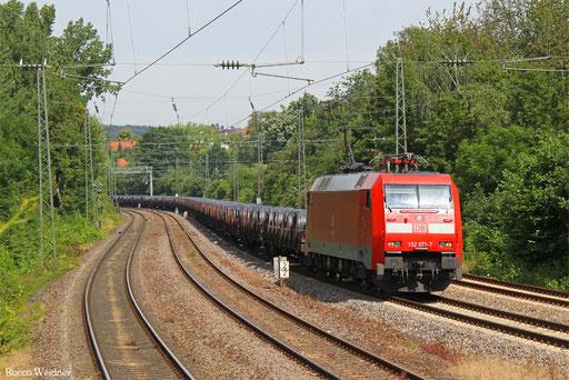 152 071 mit GM 60410 Ehrang Nord - Kehl, Saarbrücken 08.07.2016