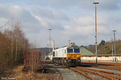 77 002 als T 68134 Neunkirchen(Saar) Hbf - Baumholder (Sdl. Militär Tfz), 09.02.2017