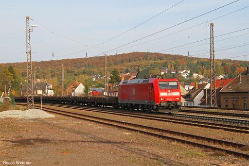 185 043 mit GM 62529 Waltershof Dradenau - Ehrang Nord (Sdl.Walzdraht aus Eisen) , Dudweiler 17.10.2017