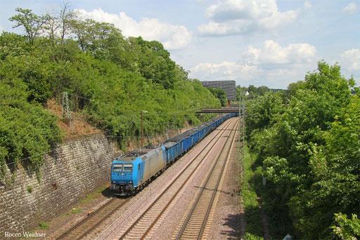 185 518 mit DGS 45480 Guben - Ehrang Nord (Sdl.),  Saarbrücken 23.05.2017