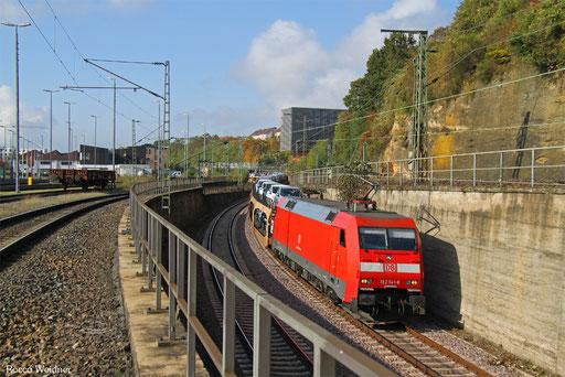 152 141 mit GA 47083 Dillingen Ford - Basel Bad Bf (Carimate/I) (Sdl. PKW), Saarbrücken 26.10.2016