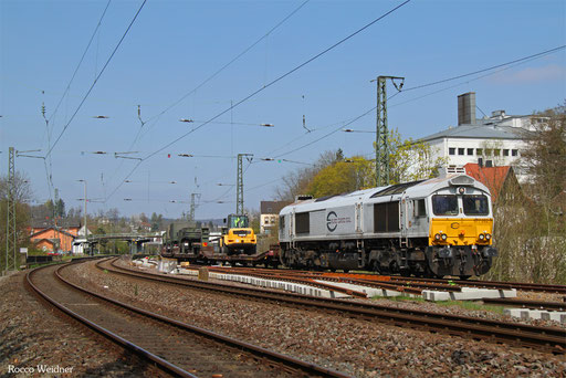 77 002 mit M 62609 Baumholder - Neunkirchen(Saar) Hbf (Sdl. Militärgut), Ottweiler 07.04.2017
