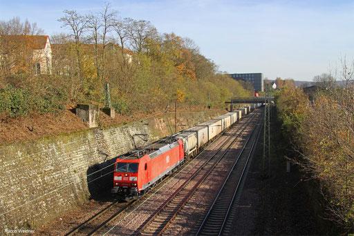 185 028 mit KT 42274 Ludwigshafen/Rh BASF Ubf - Metz-Sablon/F (Le Havre), Saarbrücken 22.11.2017