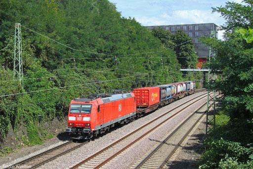 185 061 mit EZ 98207 Saarbrücken Rbf Nord - Köln-Eifeltor Bez.III (Sdl.KV), 09.08.2017
